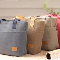 Lunch Cooler Bag Tas bekal dgn lapisan penahan panas/dingin KOREAN