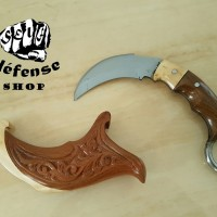"""Self Defense Shop"" Kerambit Traditional ""Ukir Batik Kayu Jati Garuda"""