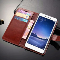 Harga wallet pu leather case syntetic flip cover casing xiaomi redmi note | Pembandingharga.com