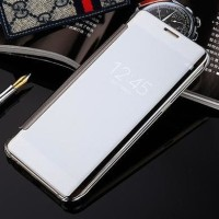 CASE CASING HP SAMSUNG C9 PRO SMART FLIP SLIM VIEW MIRROR HARD
