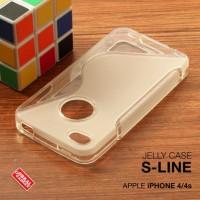 CASING CASE HP APPLE IPHONE 4 4S SOFT JELLY GEL SILIKON SILIKON SOFT