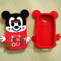 CASING HANDPHONE SAMSUNG J1 ACE 3D SOFT SILIKON MICKEY MINNIE MOUSE