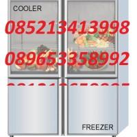 COMBI GLASS DOOR COOLER - FREEZER