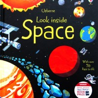 LTF-USB-LOOK-SPACE) Usborne Look Inside Space With Over 70 Flaps to li