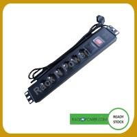 PDU 6 outlet 16A + Surge Protection Import