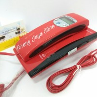 Cable Phone Sahitel S-35 Telepon Rumah Kabel (Red)