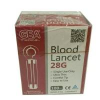 Jarum Ambil Darah isi 100 28G / Blood lancets Nanolet 28G
