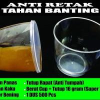 Jual Gelas Plastik Cup Puding Jelly Tutup Merpati 25pcs Murah