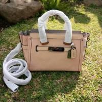 Coach Swagger hand bag leather tote bag shoulder tas wanita size 27