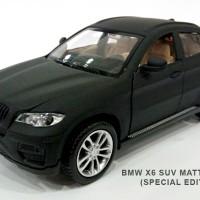 BMW X6 SUV 1:32 BLACK (LED dpan/blakang, Kap/bagasi/pintu bsa dibuka)