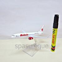 Pajangan Miniatur Diecast Pesawat Malindo