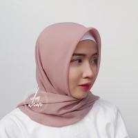 Hijab Polycotton Jilbab Poton Square Segi Empat Salem Pastel Pink