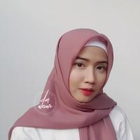 Hijab Polycotton Jilbab Poton Square Segi Empat Ungu Pastel
