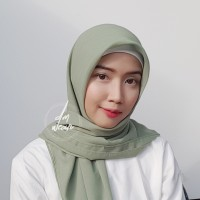 Hijab Polycotton Jilbab Poton Square Segi Empat Hijau Mint