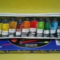 Jual (Sale) Cat air gitar / Mr. Love Guitar water colour 12 warna Murah