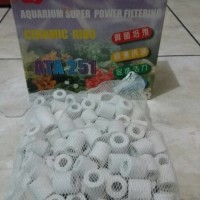Terlaris Ceramic ring Biological filter plus jaring 1kg