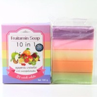Jual Pemutih Badan/FRUITAMIN SOAP 10 in 1 by WINK WHITE/Sabun Pemutih Badan Murah