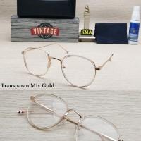 Jual Promo Frame kacamata minus VINTAGE  korea vintage bulat Murah