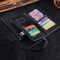 Best Leather Case n Cover Wallet Case Samsung Note 5 With 9 Card Slot