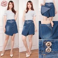 SB Collection Celana Pendek Farras Hotpants Jumbo Jeans Rok Wanita