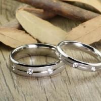 Cincin Kawin Tunangan Couple Perak Murah T171105