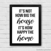 Jual Hiasan Dinding Rumah Quote - It's How Happy The Home - Home Decor Murah