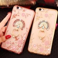 FREE +iRing Flower Oppo A39 A57 TPU soft Case hp diamond bunga casing