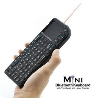 Jual Mini Wireless Keyboard Recharge Touchpad + Laser Pointer + Backlight Murah