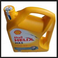 """Oli Shell Helix HX5 Sae 15w-40 Galon 4 Liter """" 09415 """""""