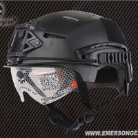 Helm EMERSON EXF BUMP Helmet With Protective Vision Goggle Glasses