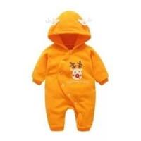 Jual Jumper import murah bayi rusa santa klaus orange halus Murah
