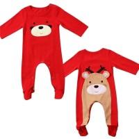 Jual Jumper import murah rusa santa klaus merah bayi halus Murah