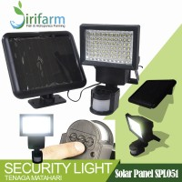 Jirifarm (11405) Solar Panel Lampu Security 12W + Batre 1500mAh