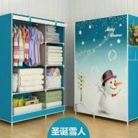Jual LEMARI PAKAIAN SNOWMAN MULTIFUNCTION wardrobe A417 Murah