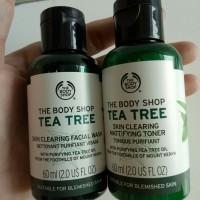 The Body Shop Tea Tree Facial Wash dan Toner 60ml