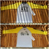 Kaos t-shirt MAXi abu kuning panjang yamaha nmax xmax tmax imo ynci mo