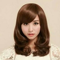 Wig Daily Rambut Palsu Pendek 02 Sebahu Bisa untuk Cosplay