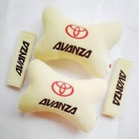 Bantal Mobil Aksesoris Sandaran leher kepala jok mobil Toyota AVANZA