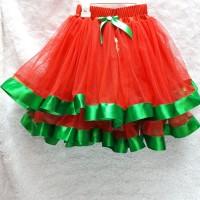 Jual rok tutu anak natal merah hijau Murah