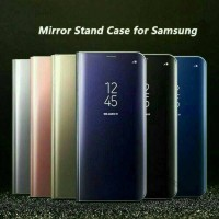 Samsung Galaxy Note 8 Flip Smart Case S-View Clear Mirror Stand Cover