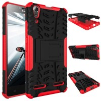 Lenovo A6000 / A6000 PLUS Rugged Armor With Kickstand Shockproof Case