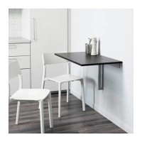 IKEA BJURSTA Meja Lipat untuk Dinding 90x50 cm Hitam cokela T1310