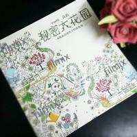 Jual  SECRET GARDEN KOREA COLORING BOOK ART THERAPY A T1310 Murah