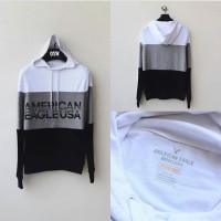 Sweater Hoodie American Eagle 3 Tone Hooded Original
