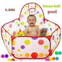 1m Tenda Pool with Hoop/ Mandi Bola Mainan Anak & Basket Ring