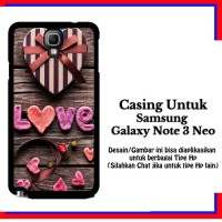 Casing Samsung Galaxy Note 3 Neo Love Gift Custom Hardcase