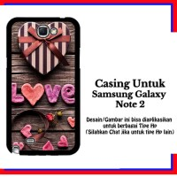 Casing Samsung Galaxy Note 2 Love Gift Custom Hardcase