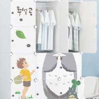 lemari baju plastik besi anti air storage furniture kamar gantung sale