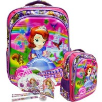 Tas Anak SD My Sofia The First 5D Timbul Hologram+Alat Tulis JAMAN NOW