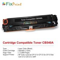 Cartridge Toner Compatible HP CB540A 125A Black Printer HP CP1215 1515